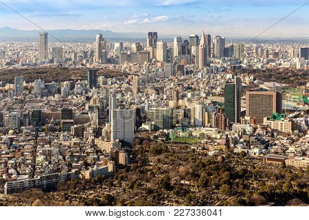 Tokyo city skyline in Shinjuku area
