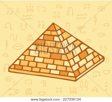 Pyramid Of Ancient Egypt Of Blocks. Vector