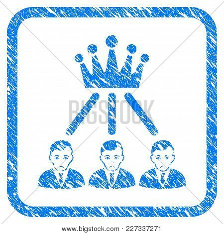 Hierarchy Men Rubber Seal Stamp Imitation. Icon Vector Symbol With Grunge Design And Dirty Texture I