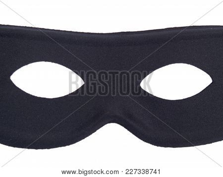 A Criminal Mask Disguise Isolated On White.