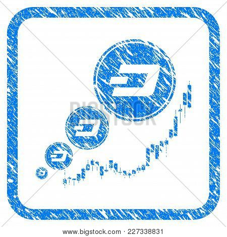 Dashcoin Inflation Chart Rubber Seal Stamp Imitation. Icon Vector Symbol With Grunge Design And Uncl