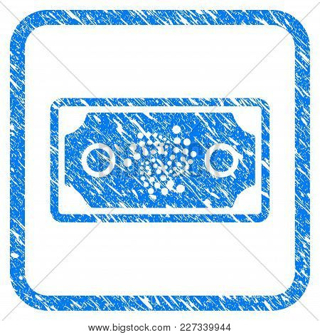 Iota Bank Note Rubber Seal Stamp Watermark. Icon Vector Symbol With Grunge Design And Dirty Texture