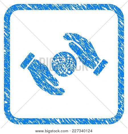 Iota Care Hands Rubber Seal Stamp Watermark. Icon Vector Symbol With Grunge Design And Unclean Textu