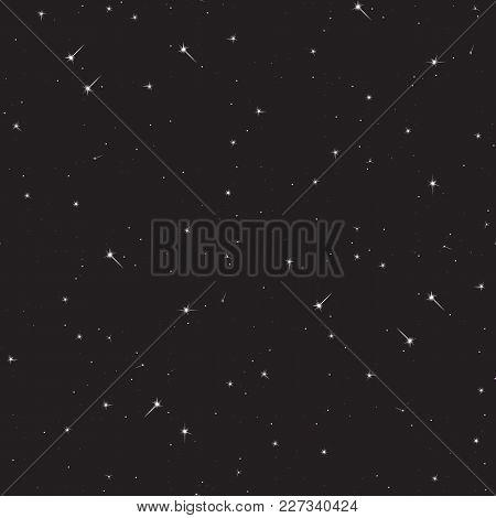 Seamless Pattern Background Space. Vector Illustration Starlight.