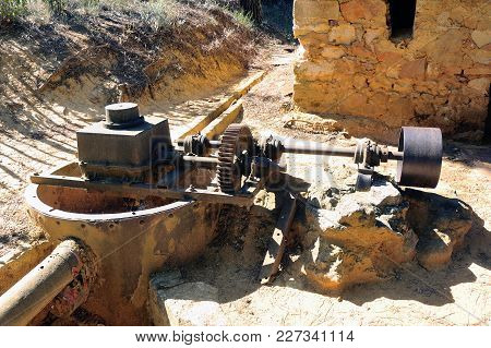 The Water Valve Of The Roussillon Ocher Factory Where Was Treated Ore To Produce Products Such As Dy