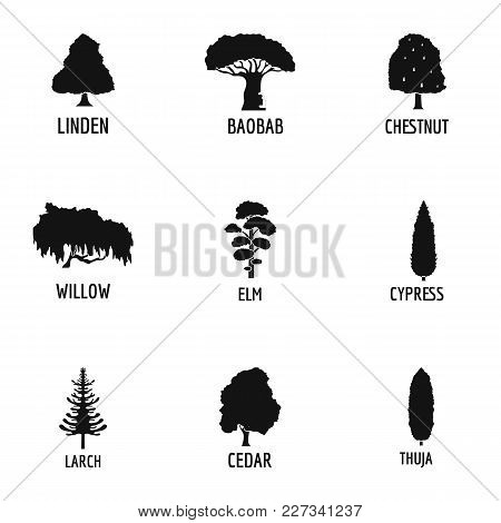 Woodworking Icons Set. Simple Set Of 9 Woodworking Vector Icons For Web Isolated On White Background