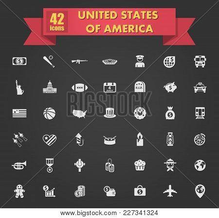 Usa Vector Icons For Your Creative Ideas