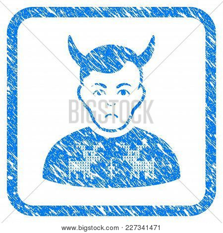 Deers Pullover Horned Husband Rubber Seal Stamp Watermark. Icon Vector Symbol With Grunge Design And