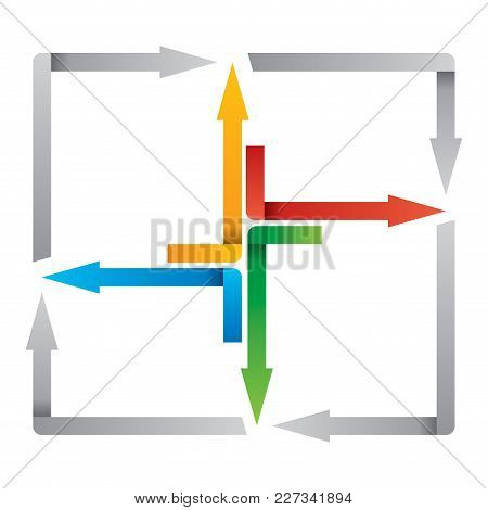 Color Arrows - Abstract Illustation For Zour Presentations