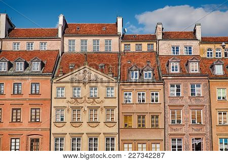 A Section Of The Buildings That Surround The Main Square Of The Stare Mesto, Or Old Town, Of Warsaw,