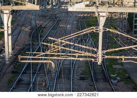Casablanca, Morocco - 13 February 2018 : High Angle View Of The New Casa Voyageurs Train Station Und