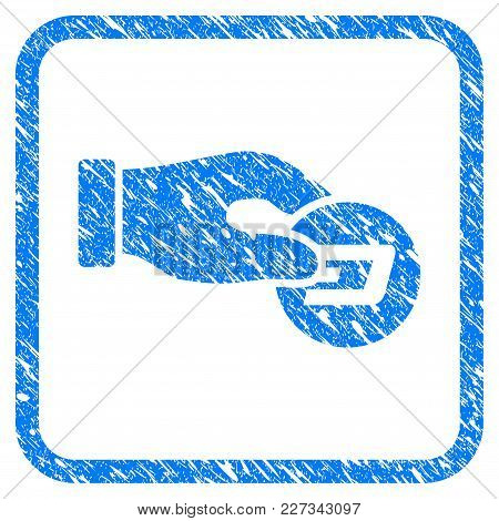 Hand Pay Dash Rubber Seal Stamp Watermark. Icon Vector Symbol With Grunge Design And Dirty Texture I