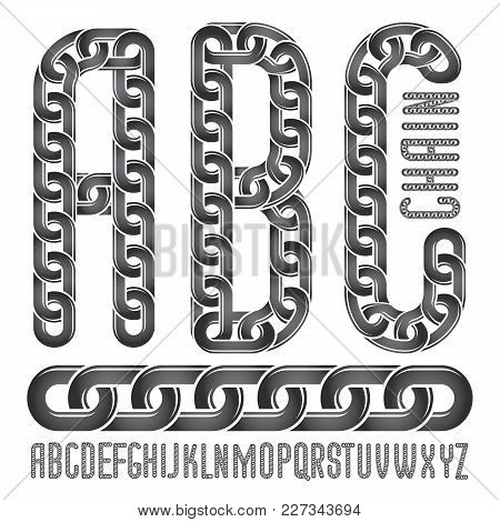 Vector Font, Trendy Typescript Can Be Used In Poster Creation. Upper Case Creative Letters, Abc Made