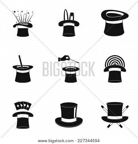 Cocked Hat Icons Set. Simple Set Of 9 Cocked Hat Vector Icons For Web Isolated On White Background