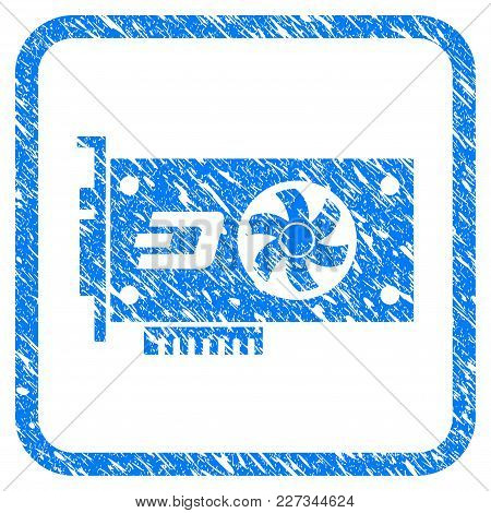 Dash Video Gpu Card Rubber Seal Stamp Watermark. Icon Vector Symbol With Grunge Design And Dirty Tex