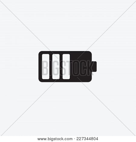 Icon Graphic Battery. Black And White Pictogram For Web Design. Vector Flat Illustrations, Logo