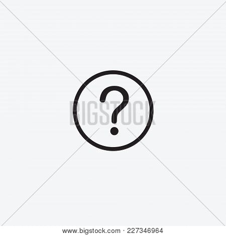 Icon Graphic Illustration. Question Mark. Black And White Pictogram For Web Design. Vector Flat Illu
