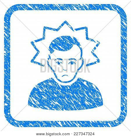 Inventor Rubber Seal Stamp Imitation. Icon Vector Symbol With Grunge Design And Unclean Texture Insi