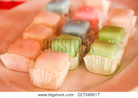 Small Multi Coloured Confectionery On A Plate