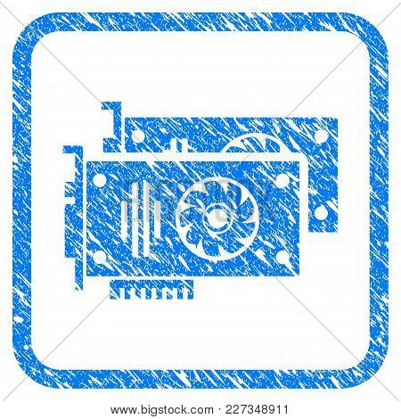 Graphic Accelerator Cards Rubber Seal Stamp Imitation. Icon Vector Symbol With Grunge Design And Cor