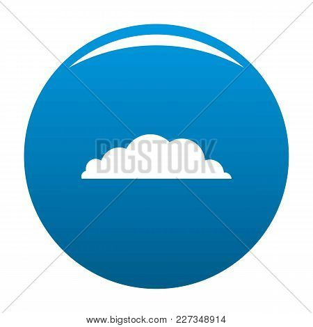 Climate Icon Vector Blue Circle Isolated On White Background