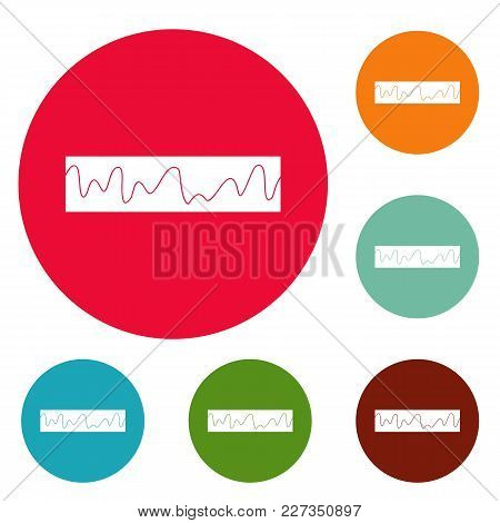 Equalizer Sonic Icons Circle Set Vector Isolated On White Background