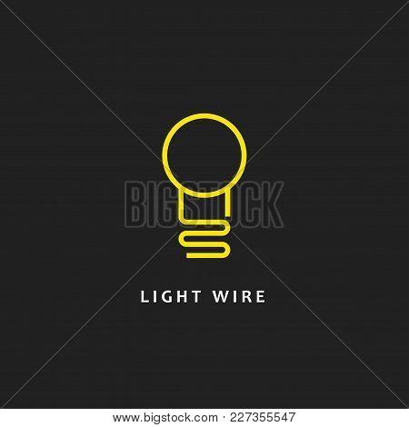 Lightbulb. Isolated Vector Icon, Sign, Emblem, Pictogram. Flat Style For Design, Web, Logo Or Ui. Ep