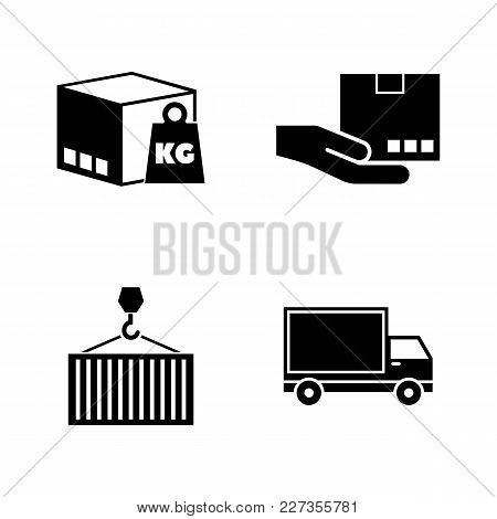 Commercial Logistics. Simple Related Vector Icons Set For Video, Mobile Apps, Web Sites, Print Proje
