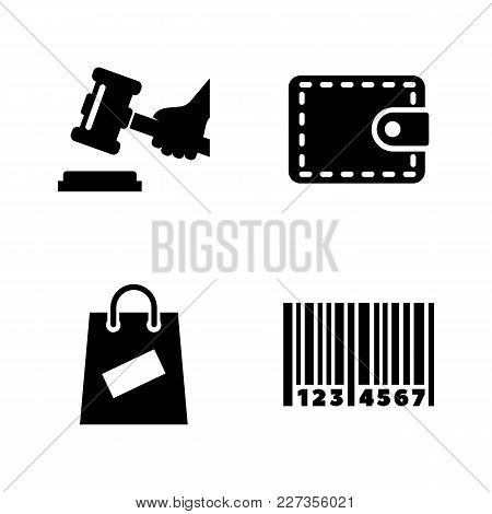 Auction. Simple Related Vector Icons Set For Video, Mobile Apps, Web Sites, Print Projects And Your