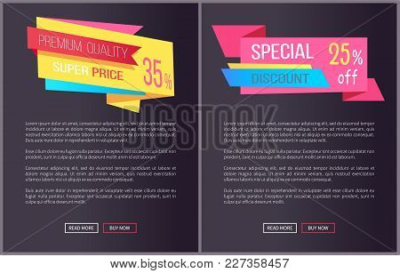 Premium Quality Super Price 35 Off Web Posters Set With Push Buttons Read More And Buy Now. Vector I