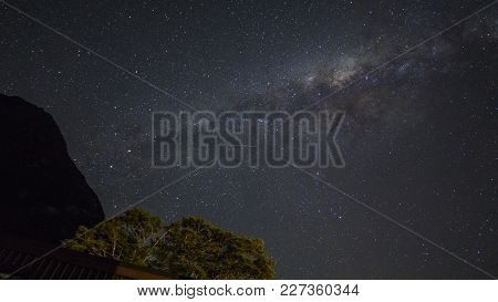 Grain Or Noise Milkyway Galaxy Stars View For Cosmos Background