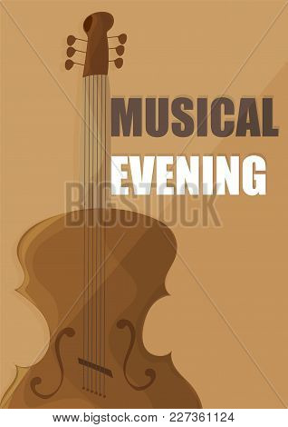 Poster For A Concert Of Classical Music With Violin - Brown Color