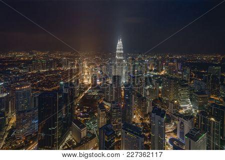 Kuala Lumpur, Malaysia - October 26, 2014: Kuala Lumpur City Skyline From The Observation Deck Of Kl