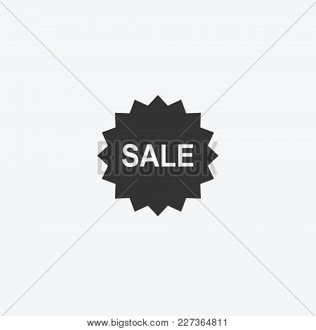 Discount Tag Isolated Flat Web Mobile Icon. Vector Graphic Illustration. Logotype, Logo