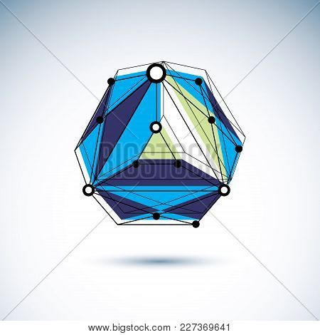 Communication Technologies Modern Icon. Abstract Vector 3d Geometric Low Poly Object, Digital Scienc