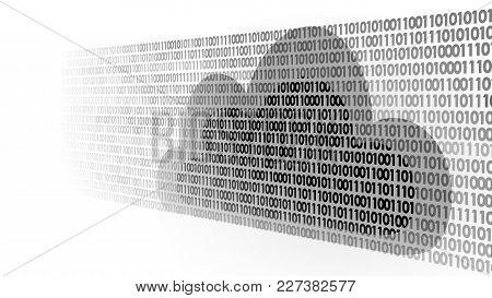 Cloud Computing Online Storage Binary Code Numbers. Big Data Information Future Modern Internet Busi