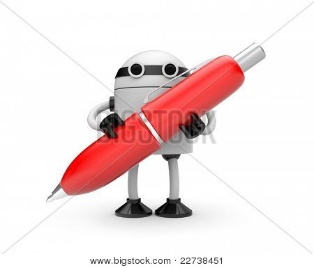 Robot with pen