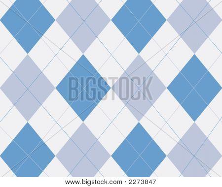 Blue Turquoise And White Argyle