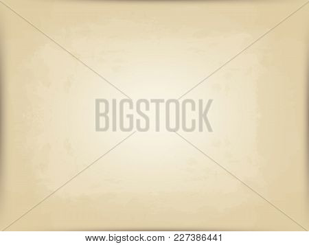 Vector Horizontal Background Of Old Beige Postal Paper. Grunge Style