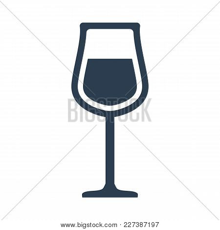 Wine Glass Icon On White Background.