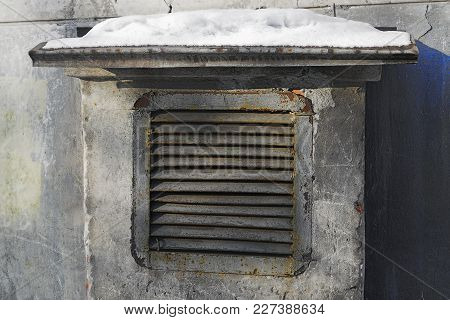 Metal Shutters For The Ventilation Shaft Close-up