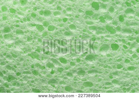 Green Colorful Sponge Texture, Cellulose Foam Sponge