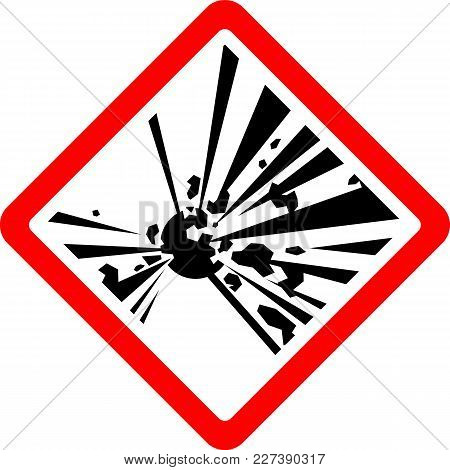 Explosive, New Safety Symbol, Simple Vector Illustration