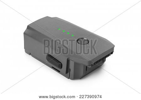 Battery for drone isolated on white background
