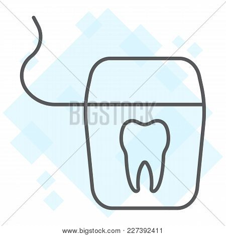 Dental Floss Thin Line Icon, Stomatology And Dental, Clean Sign Vector Graphics, A Linear Pattern On