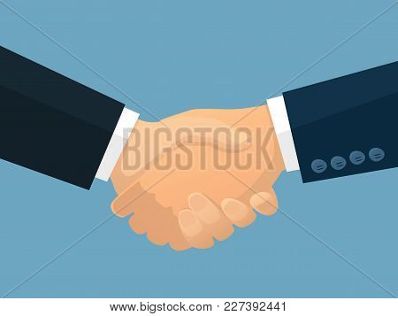 Business Partnership Vector Illustration. Business Agreement. Business Deal.