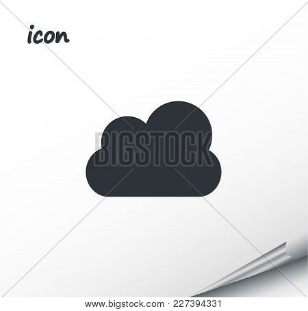 Vector Icon Cloud Weather On A Wrapped Silver Sheet Eps