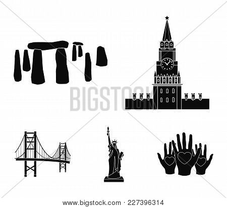 Building, Interesting, Place, Coliseum .countries Country Set Collection Icons In Black Style Vector