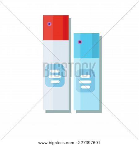 Air Freshener Aerosol Bottle. Stock Flat Vector Illustration.