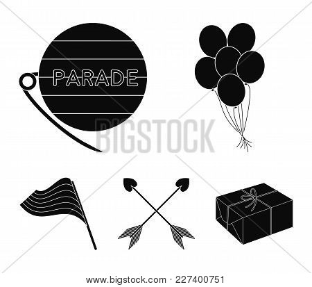 Balls, Gay Parade, Arrows, Flag. Gayset Collection Icons In Black Style Vector Symbol Stock Illustra